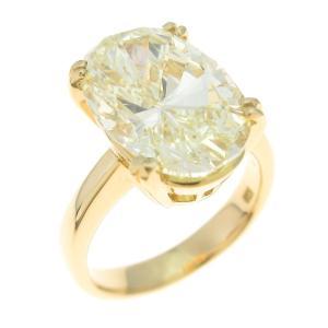 K18YG ダイヤモンドリング 5.619ct・LY・SI2・オーバルカット|komehyo