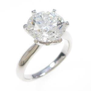 【リメイク】プラチナダイヤモンドリング 3.107ct・F・SI1・3EXT|komehyo
