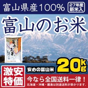 米 20kg お米 安い 平成28年新米入 富山のお米 10kg×2 富山県産100%