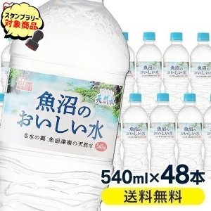 水 540ml×48本 天然水 ミネラルウォーター 軟水 魚沼のおいしい水 新潟県 アイリスフーズ