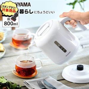電気ケトル おしゃれ ケトル 新生活 ポット やかん 湯沸し器 ベーシックタイプ ホワイト IKEB-800-W  アイリスオーヤマ|komenokura