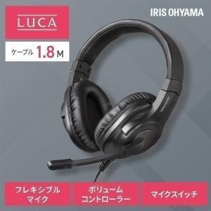 ヘッドセット ミニプラグタイプ IHS-P02-B ブラック アイリスオーヤマ ゲーム|komenokura