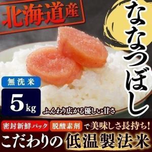 お米 29年産 5キロ 低温製法米 無洗米 北海道産 ななつ...