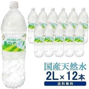 セール 水 飲料水 ミネラルウォーター 2リットル 2L 12本 安い 送料無料 まとめ買い 森のめぐ美 ビクトリー 天然水 代引き不可 komenokura