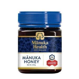 マヌカヘルス マヌカハニー MGO115+/UMF6+ 250g (正規品 ニュージーランド産)  MANUKA HEALTH NEW ZEALAND (D) komenokura