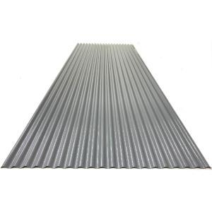 カラートタン波板 0.19mm厚 グレー 6尺 10個セット|komeri