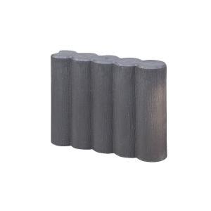 ロングガーデンプラ花壇 ブラウン 370×300×90mm 5個セット|komeri