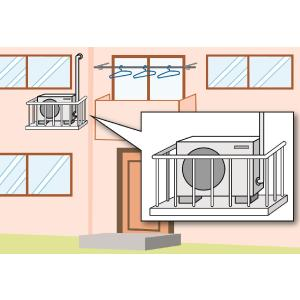 エアコン工事費 A−7 (〜5.4kWまで) 室外機専用ベランダ 2階|komeri