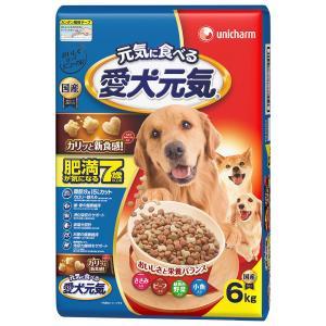 愛犬元気 肥満 7歳以上用 ささみビーフ小魚入り 6kg|komeri