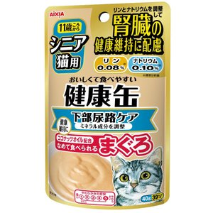 アイシア シニア猫用健康缶パウチ下部尿路ケア40g