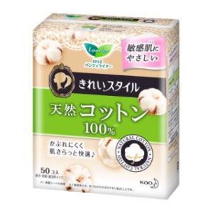 花王 ロリエきれいスタイル 天然コットン 50個入|komeri