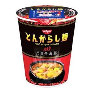 日清のとんがらし麺 うま辛海鮮 12個セット|komeri