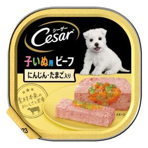 シーザー 2ヶ月からの子犬用ビーフ キャロット・たまご入100g|komeri