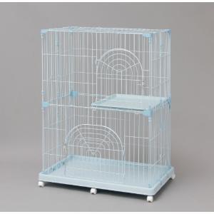 猫の飼育に適した、余裕のある2段タイプのケージです。