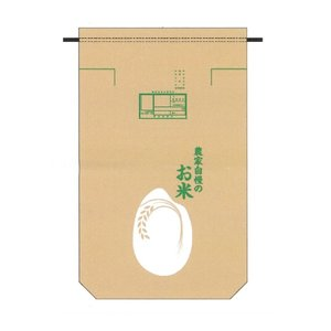 30kg用米袋 農家自慢のお米 検査枠付米袋 100枚セット