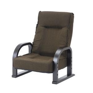 リクライニングハイバック曲木座敷椅子 ブラウン|komeri