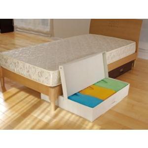 ベッド下収納BOX ダブル アイボリー 8072|komeri