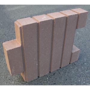 菜園ブロック ブラウン 約40×6×H30cm|komeri