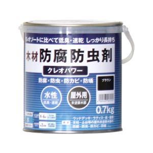 クレオソートに比べて低臭・速乾 しっかり長持ち。従来品に比べ塗り面積大幅アップ。