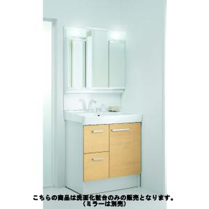 LIXIL 洗面台 D7H4−755SY1−W/VP1W ホワイト|komeri
