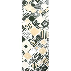 手ぬぐい 捺染 プリント 日本製 和雑貨 Pattern Box カーキ ベージュ 緑 幾何学 Airashika あいらしか TE-2004-00【メール便8点まで】|komesihci5