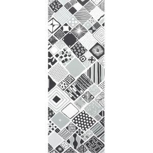 手ぬぐい 捺染 プリント 日本製 和雑貨 Pattern Box グレー 灰 モノトーン 幾何学 Airashika あいらしか TE-2005-00【メール便8点まで】|komesihci5