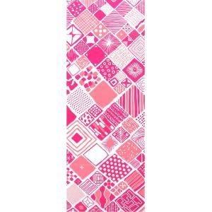 手ぬぐい 捺染 プリント 日本製 和雑貨 Pattern Box ピンク 幾何学 Airashika あいらしか TE-2006-00【メール便8点まで】|komesihci5