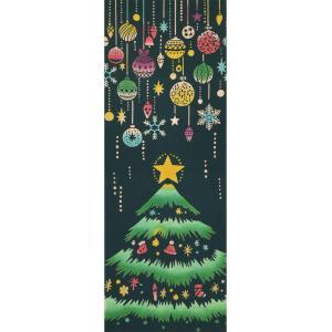 手ぬぐい クリスマスツリー 冬 オーナメント 本染 注染 日本製 和雑貨 Airashika あいらしか TE-6005-01【メール便6点まで】|komesihci5