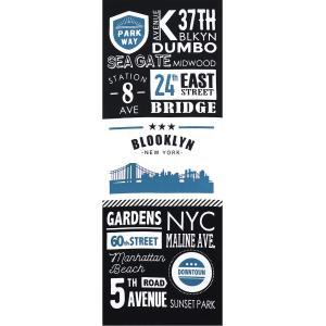 手ぬぐい B.NEWYORK CITY ブルックリン カフェ 喫茶店 本染 注染 日本製 和雑貨 Airashika あいらしか TE-7020-06【メール便6点まで】 komesihci5
