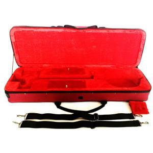 三線 ケース  ケース セミハードケース 赤 レッド フルボディーガードタイプ