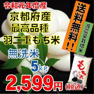 【29年産】京都府産 無洗米 新羽二重もち米5kg 餅米 2...