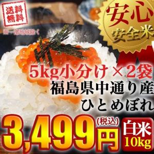 クーポン獲得ご利用で10%OFF!! 平成30年産 福島県中通り産ひとめぼれ白米10kg(5kg×2個)  送料無料 ※一部地域を除く|komeyamayoshi