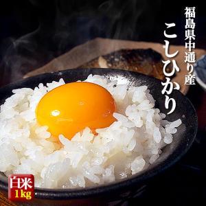 【送料無料】お試しメール便 福島県中通り産コシヒカリ白米1kg※日時指定不可|komeyamayoshi