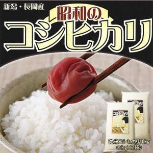 昭和のコシヒカリ(新潟県産コシヒカリ)10kg(5kg×2袋)(令和2年産)【送料無料(本州のみ)】 komeyaookura
