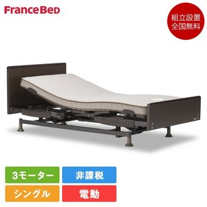フランスベッド 電動ベッド シングル レステックス-02F 3モーター フレームのみ | フランスベッド レステックス 上下 リクライニング 介護 非課税|komichi-2018
