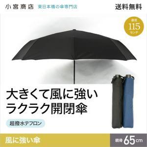 大きくて風に強い ラクラク開閉傘  ■直径約115cmと大きい  ■風に強い 構造的に非常に丈夫な傘...