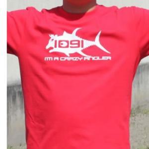 釣りTシャツ Tuna Crazy Angler. 1091(牛鮪) Tシャツ komo