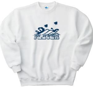 Sea birds and waves. [ちどり]  トレーナー