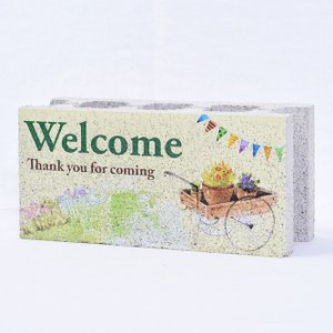 【ガーデンサイン】ファニーブロック フラッグ Welcome 〈商品番号 F-G13〉|komochi-store