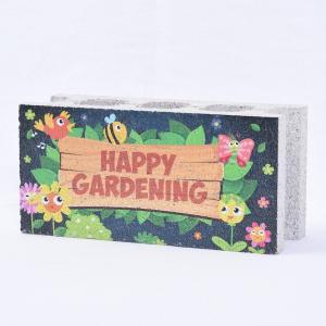 【ガーデンサイン】ファニーブロック ハッピーガーデン 〈商品番号 F-G3〉 komochi-store