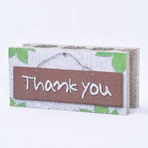 【ウェルカムブロック】ファニーブロック Thank you 〈商品番号 F-W3〉|komochi-store