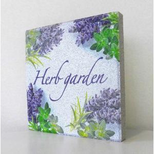 【ガーデンサイン】平板ブロック H ハーブガーデン 〈商品番号 H200-G9,H300-G9〉|komochi-store
