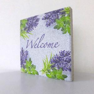 【ウェルカムブロック】平板ブロック ハーブ Welcome 〈商品番号 H200-W12,H300-W12〉|komochi-store