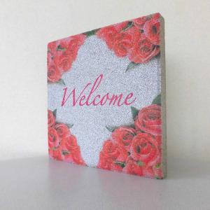 【ウェルカムブロック】平板ブロック ローズ Welcome 〈商品番号 H200-W13,H300-W13〉|komochi-store