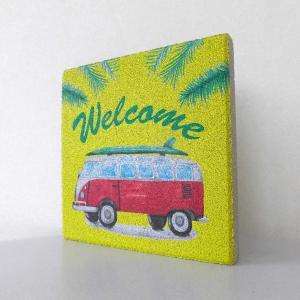 【ウェルカムブロック】平板ブロック 夏バス Welcome 〈商品番号 H200-W14,H300-W14〉|komochi-store