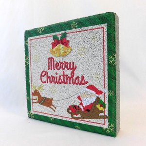 【ガーデンサイン】クリスマス 平板ブロック E 〈商品番号  H200-G25〉|komochi-store