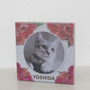 【ペット写真入り表札】平板ブロック ウェルカムペットM 〈商品番号 H300-P13〉|komochi-store