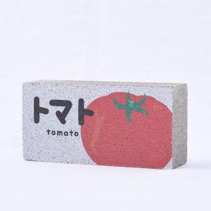 【ガーデンサイン】レンガブロック トマトA 〈商品番号 R-G19〉|komochi-store