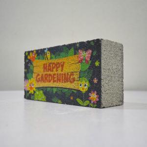【ガーデンサイン】レンガブロック ハッピーガーデン 〈商品番号 R-G3〉|komochi-store