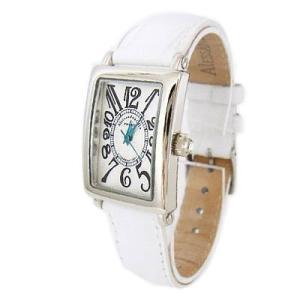 [アレサンドラオーラ]Alessandra Olla 腕時計 石無し長方形 AO-1500-18 WH レディース|komomoshop